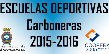 plazo de inscripción de las Escuelas Deportivas de Carboneras