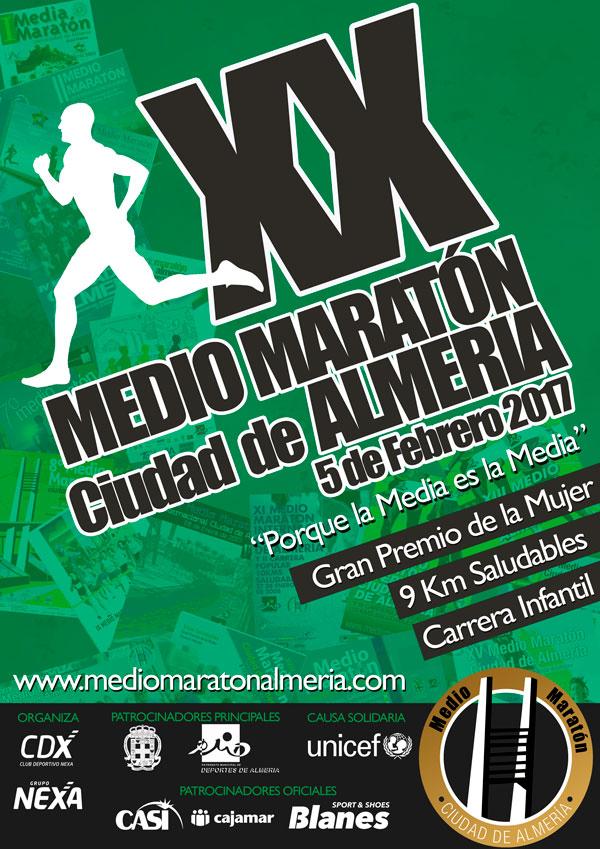 cartel Medio Maraton Almeria 2017